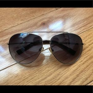 Michael Kors Silver Aviator Sunglasses